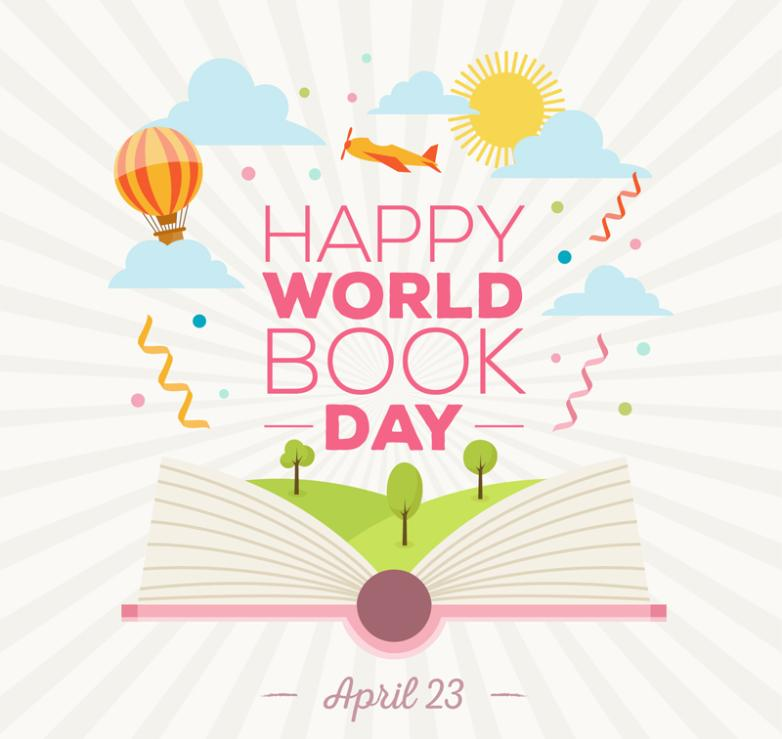 The Creative World Book And Copyright Day Cards Vector