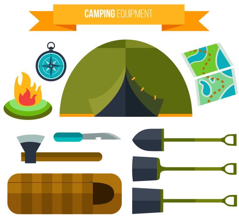 10 Flattening Camping Gear Vector