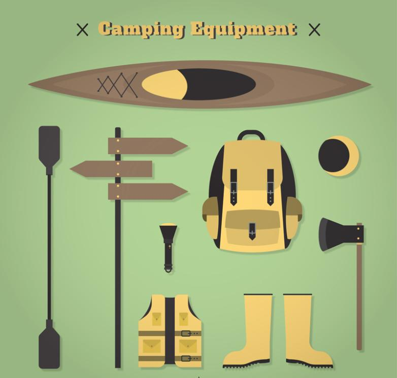 Nine New Creative Vector That Is Needed For Camping
