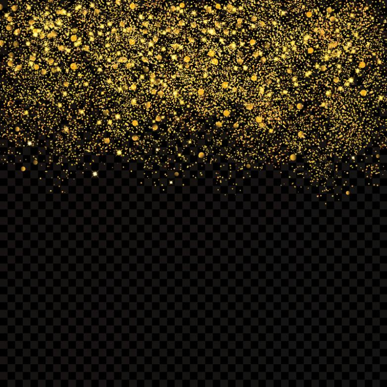 Golden Dazzling Sequins Background Vector