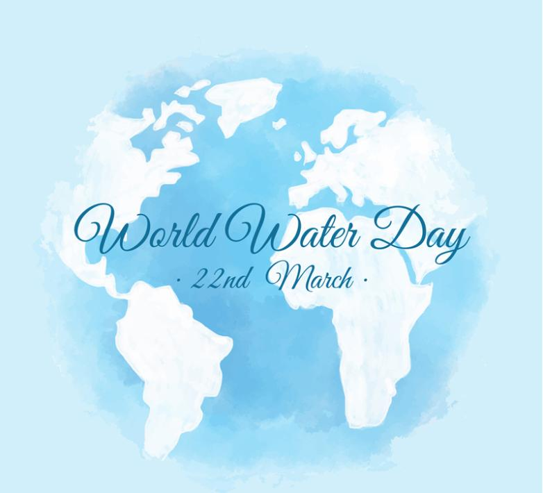 Blue Earth World Water Day Poster Vector