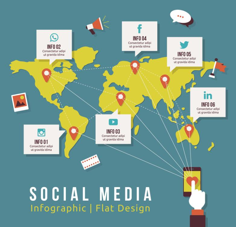 Creative Mobile Social Media Information Vector