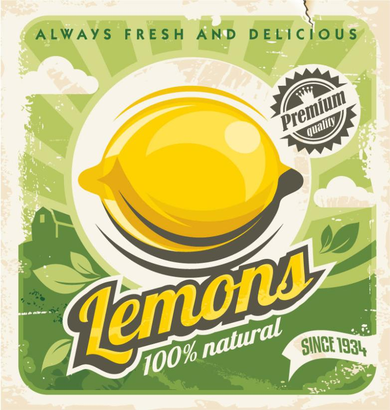 Lemon Posters Restoring Ancient Ways Vector