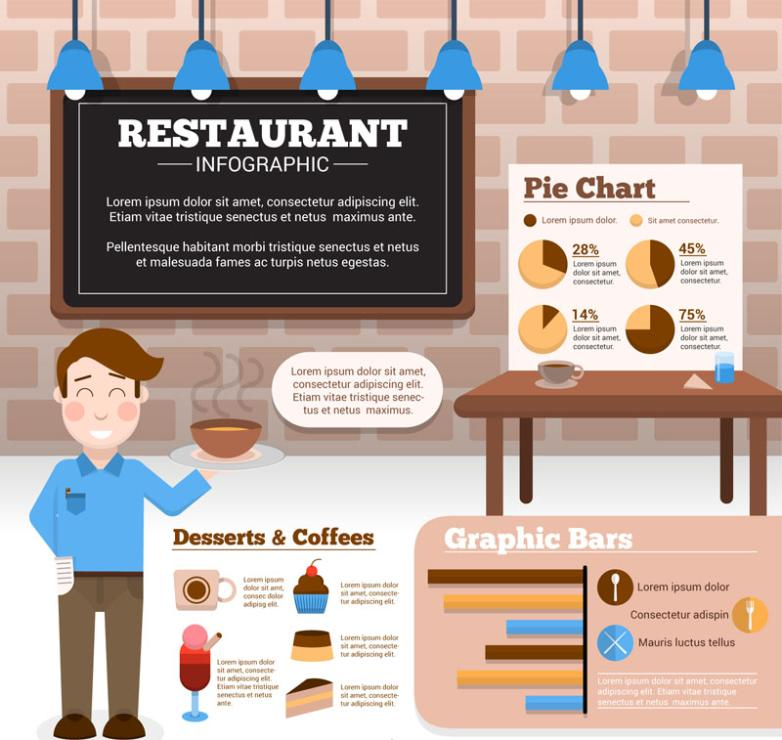 Creative Restaurant Business Information Vector
