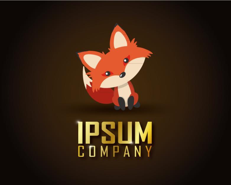 Cute Little Red Fox Vector