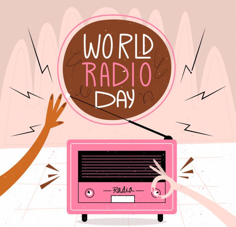 World Radio Day Illustrations Coloured Drawing Or Pattern Vector