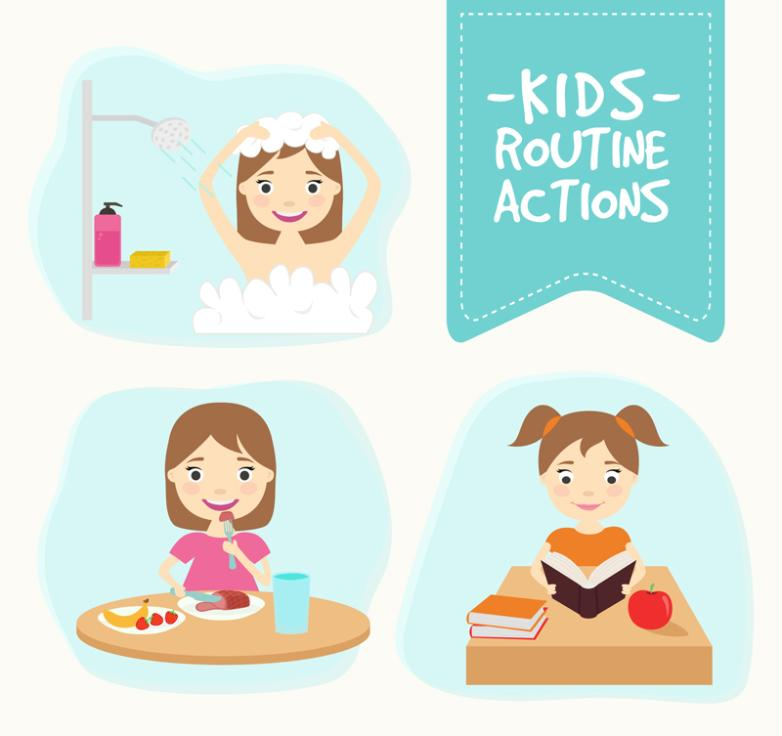 Three Creative Girl In Daily Life Vector