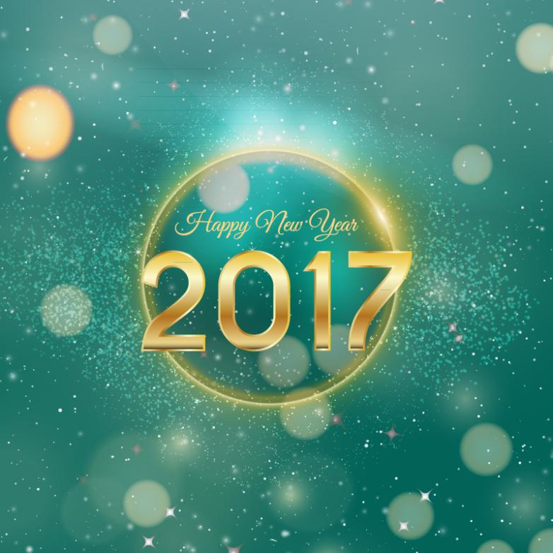 Creative In 2017 New Year Greeting Card Vector