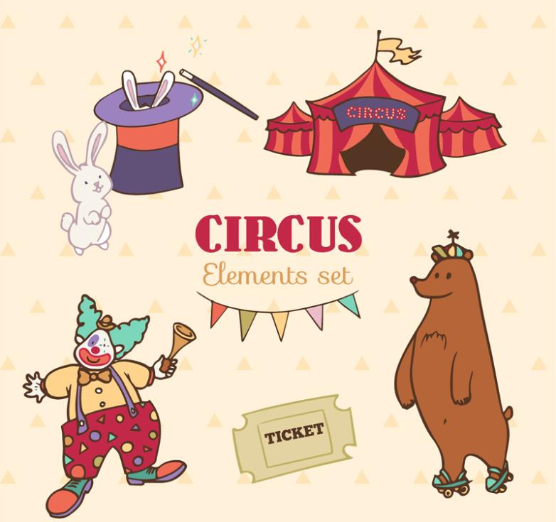 5 Creative Elements Of The Circus Vector