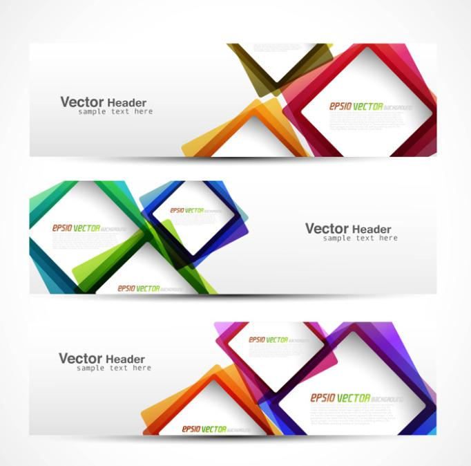 Creative Color Banners Vector