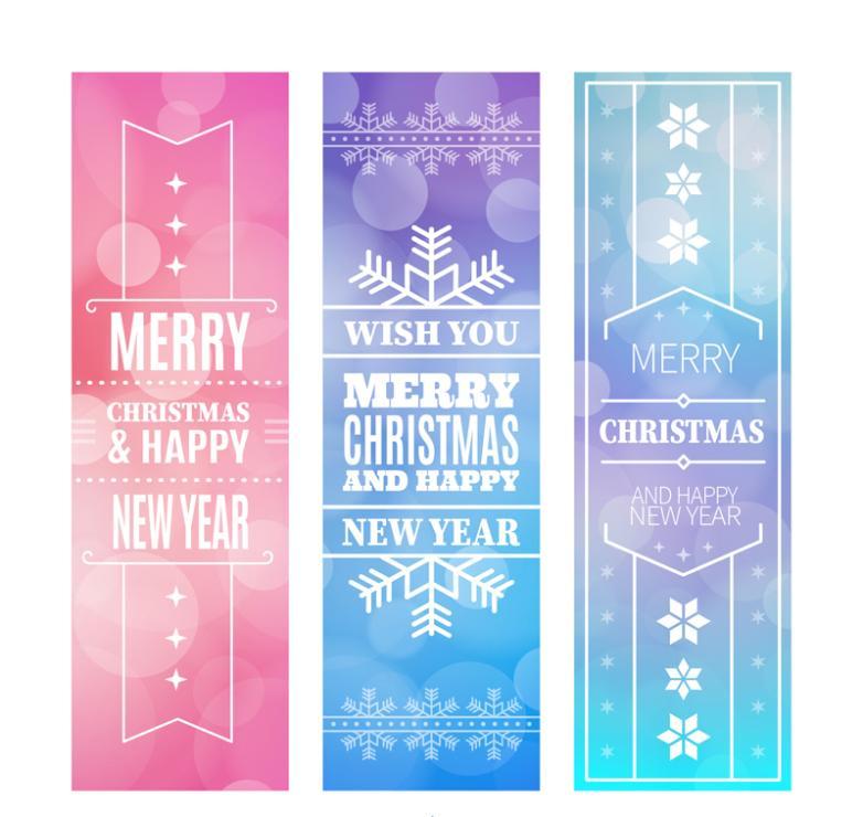 Three Fantastic Christmas Banner Vector