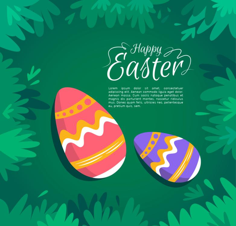 The Decorative Pattern Of Grass Eggs Vector