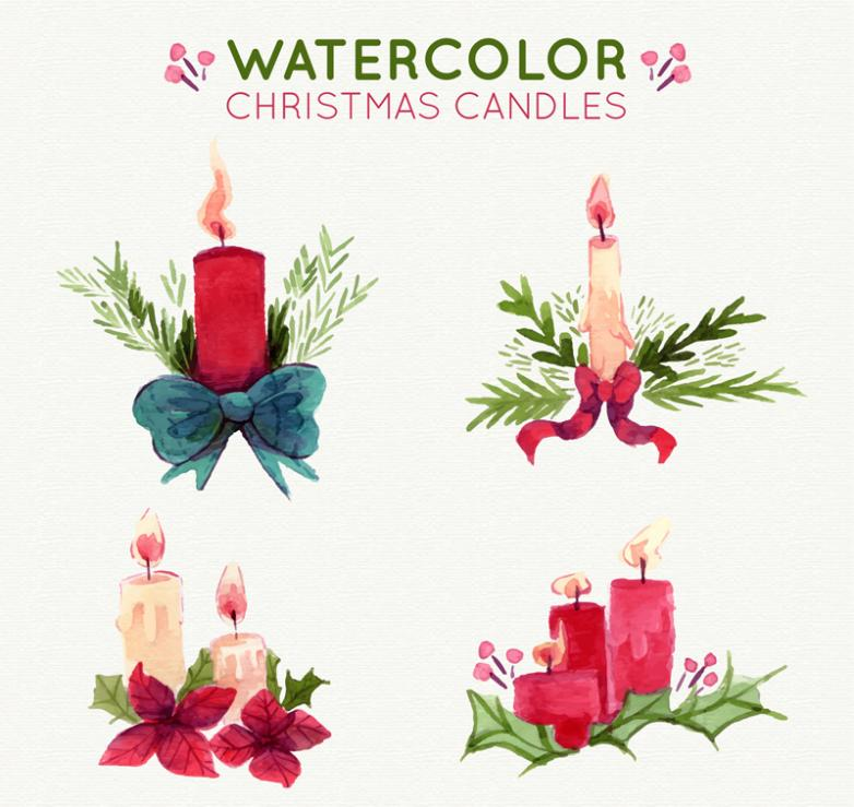 4 Water Festival Candle Coloured Drawing Or Pattern Vector