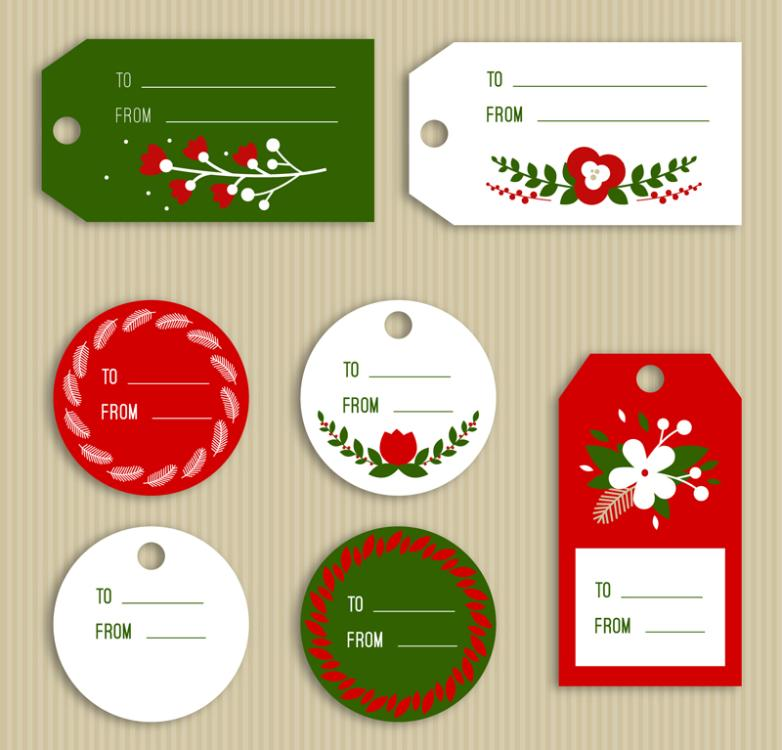 Seven New Creative Christmas Card Vector