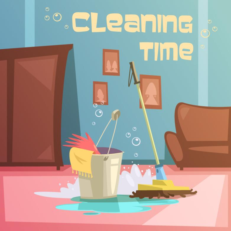 Household Cleaning Illustration Vector