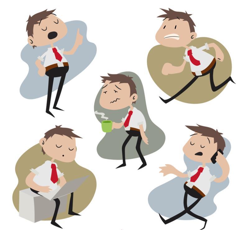 5 Creative Business White-collar Men Vector