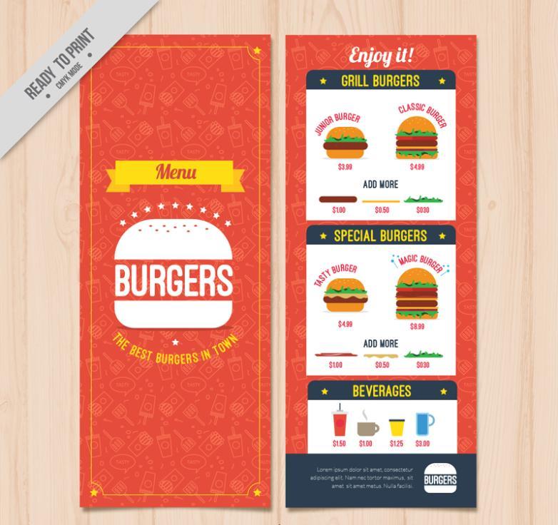 Positive And Negative Creative Hamburger Menu Design Vector