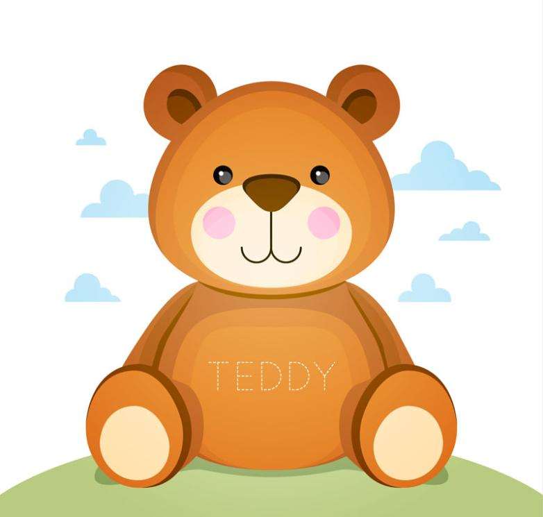 Lovely Brown Teddy Bear Vector