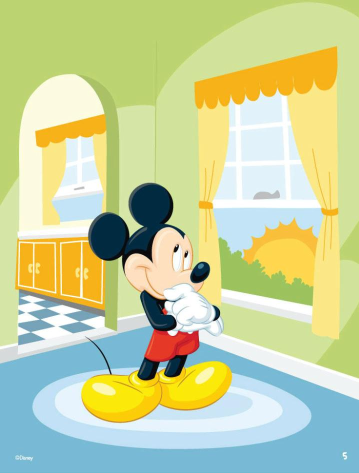 Cartoon Mickey In The Room Vector