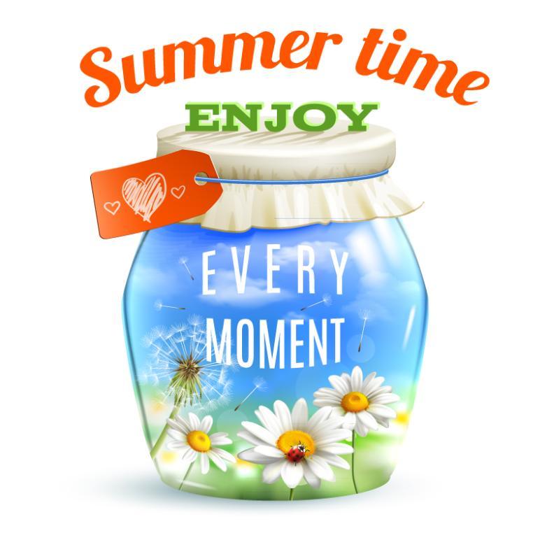 Enjoy The Summer Time Daisy Flower Pot Vector