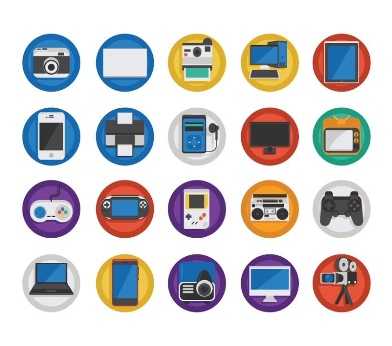 20 Electronic Product Icon Vector
