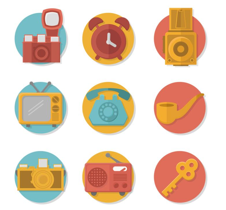 Nine New Exquisite Articles For Daily Use Such As Camera Icon Vector