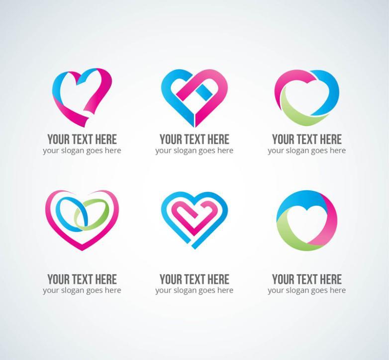 6 Creative Love Symbol Vector