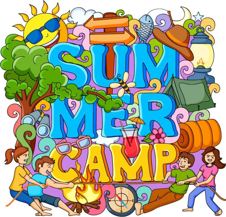 Creative Graffiti Summer Camping Holiday Vector