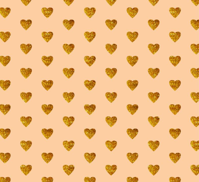 Golden Love Seamless Background Vector