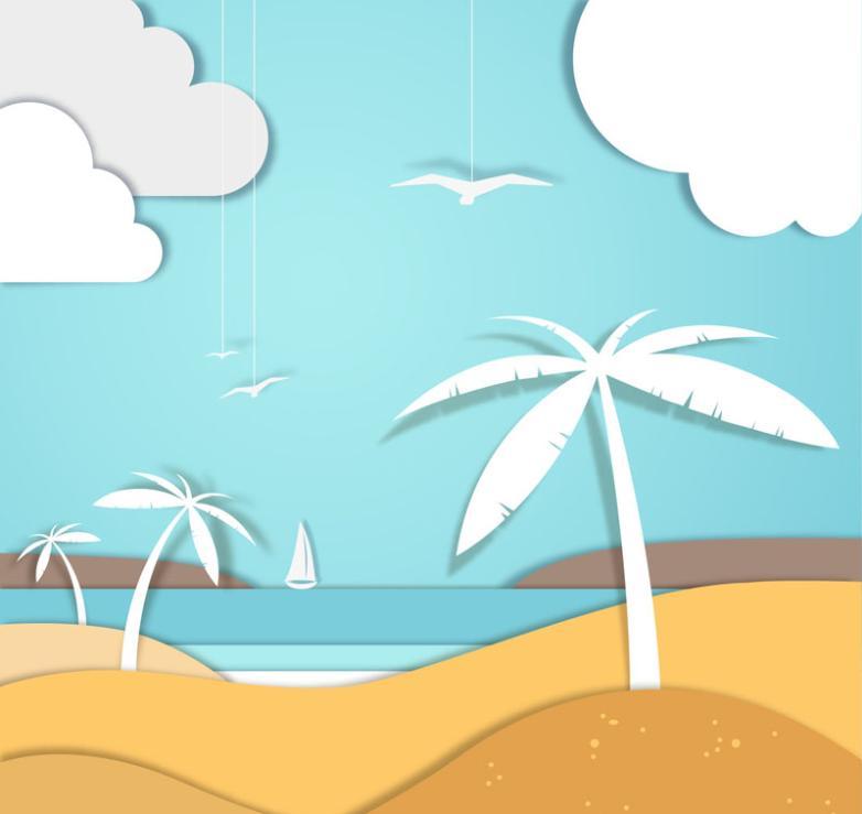Beach Coconut Clipart Vector