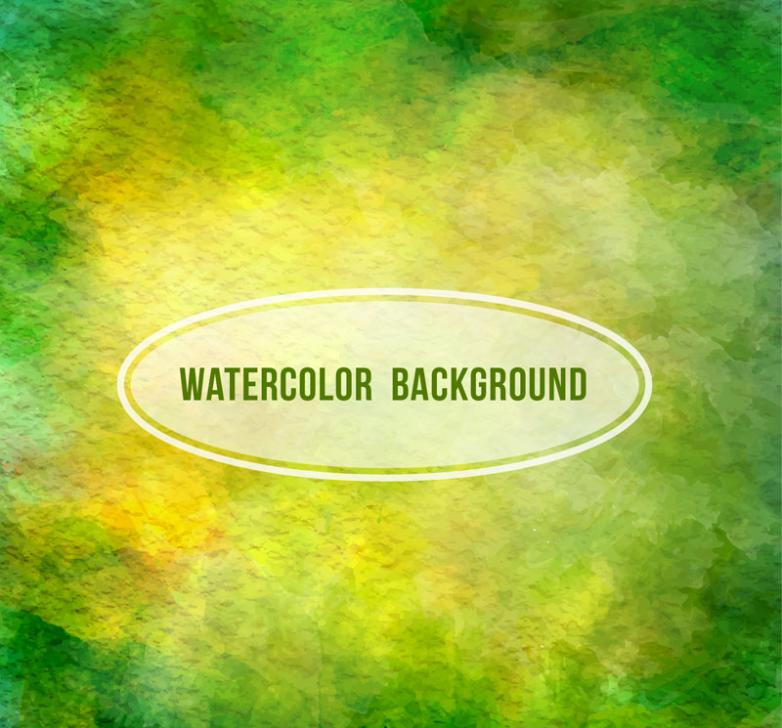 Yellow-green Watercolor Background Vector