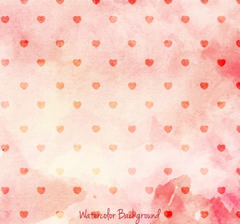 Red Broken Love Seamless Background Vector