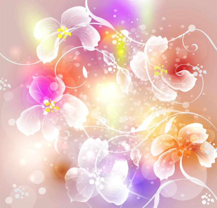 Dream Flower Halo Background Vector