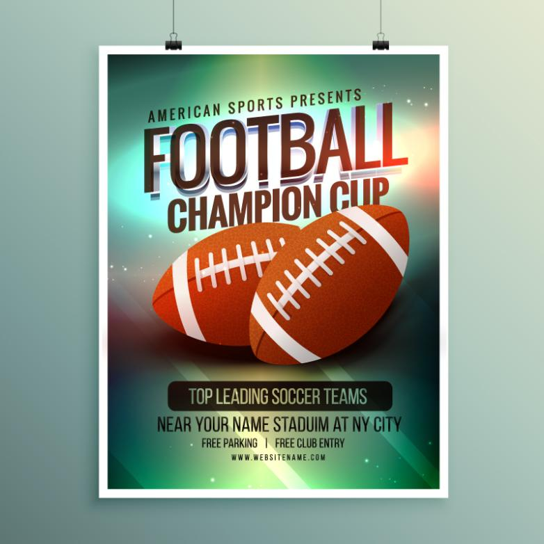 American Football Posters Vector