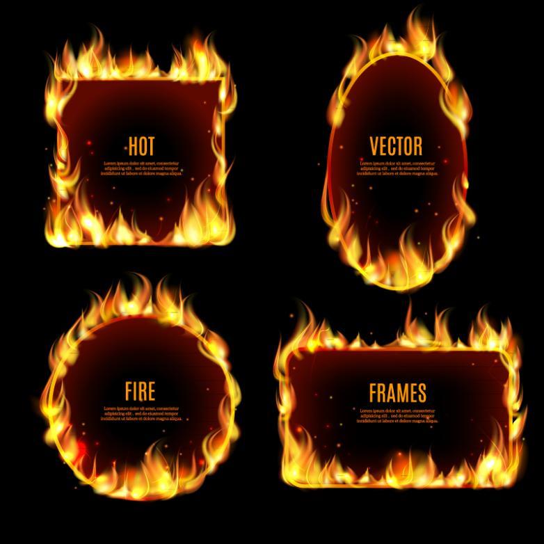 4 Flame Framework Design Vector