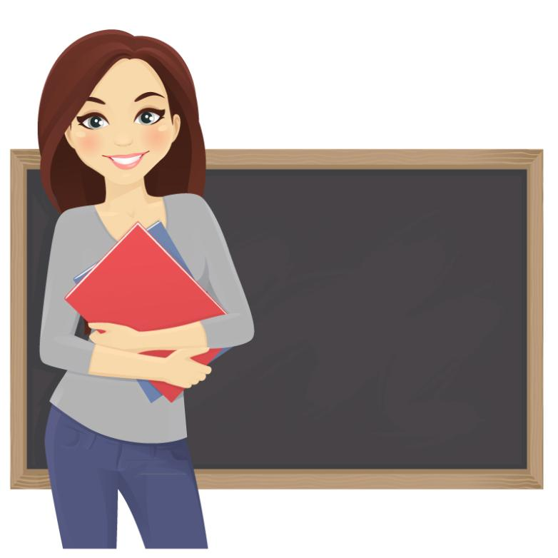 Lesson Plans Of Female Teachers Vector