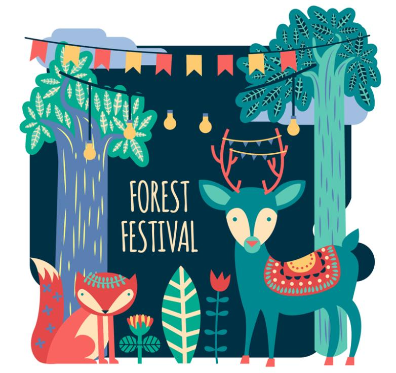 Cartoon Forest Section Illustration Vector