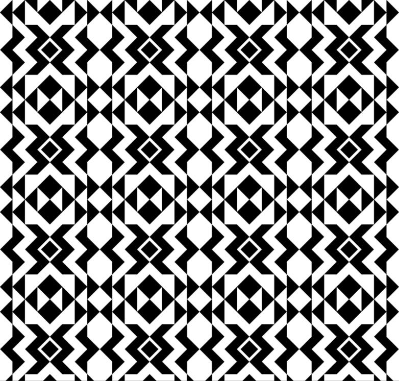 Black And White And Decorative Pattern Seamless Background Vector