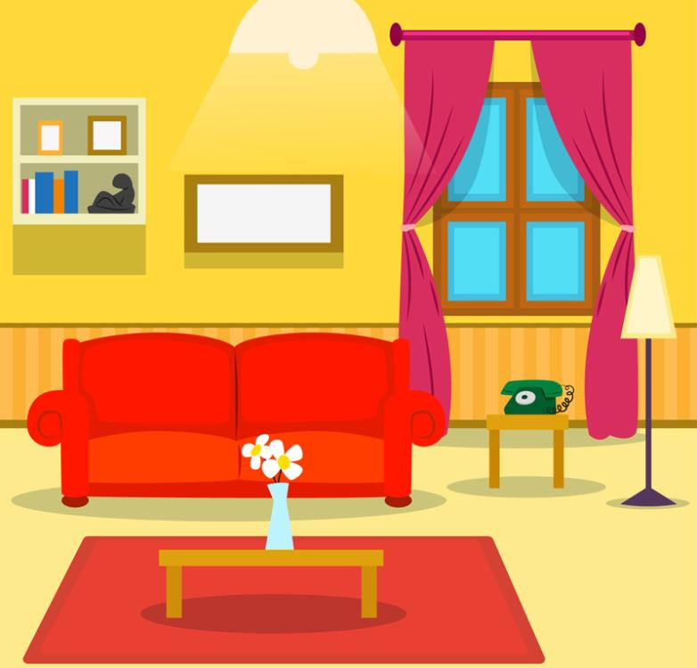Color Design The Sitting Room Vector