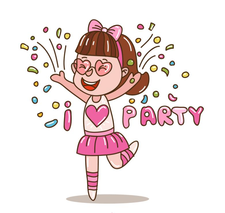 Lovely Party Girl Vector