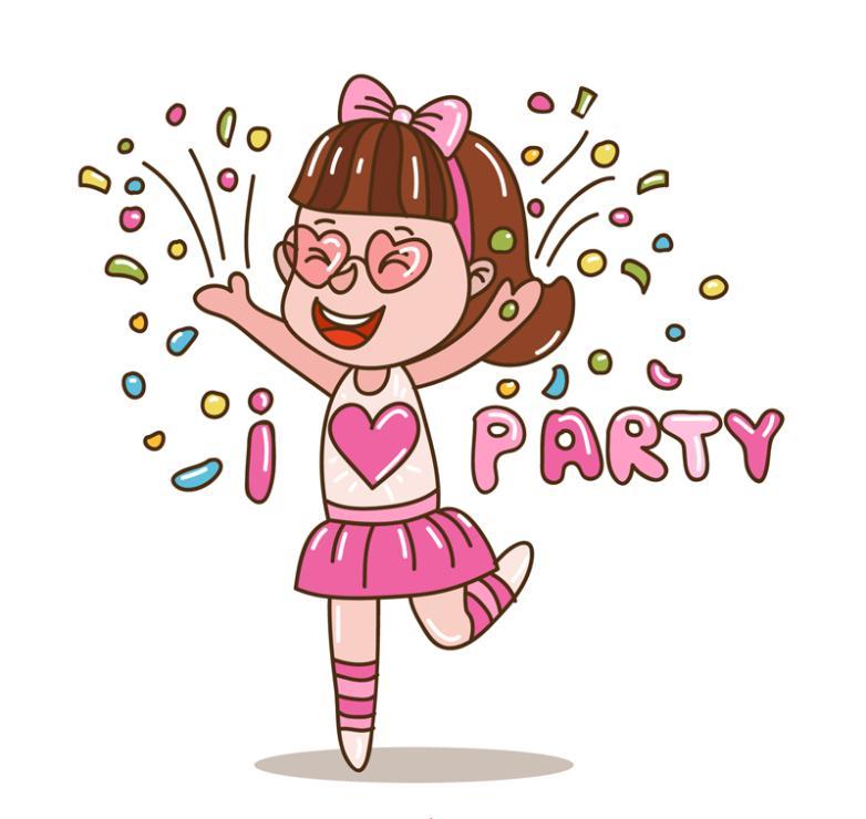 Lovely Party Girl Vector