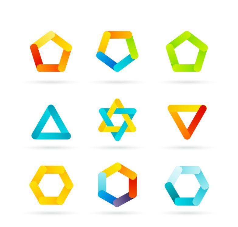 Nine New Color Design Icon Vector