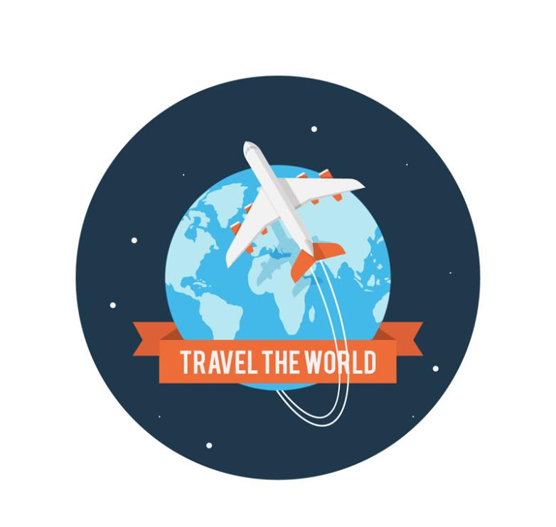 Travel Around The World Illustrations Vector