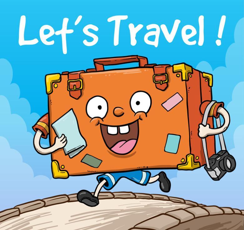 Cartoon Running Suitcase Vector