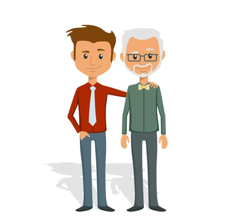 Father And Son Cartoon Design Vector