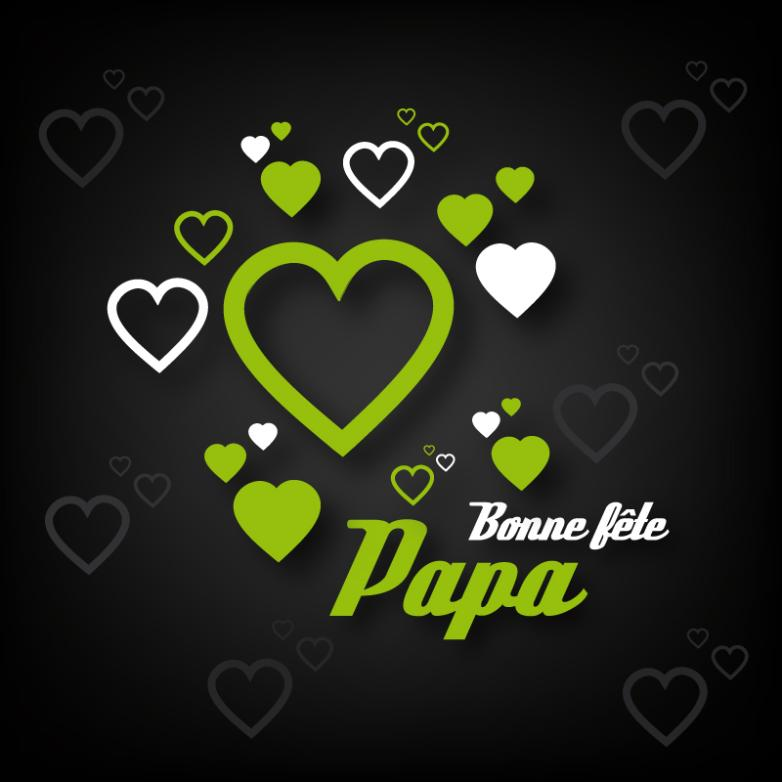 Green Love Father's Day Cards Vector