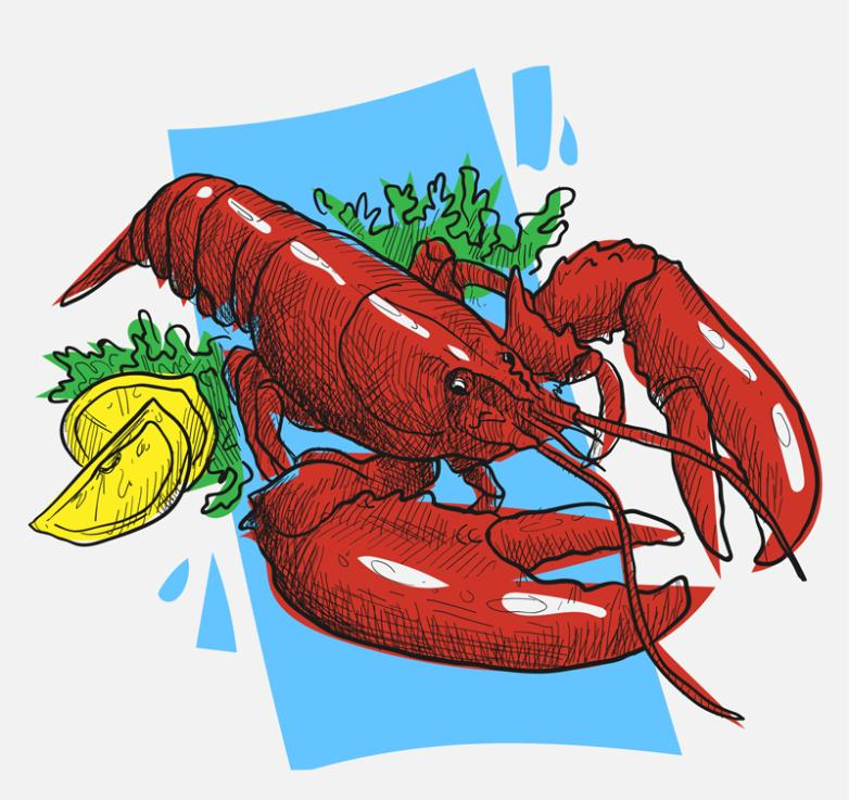 Delicious Red Lobster Vector