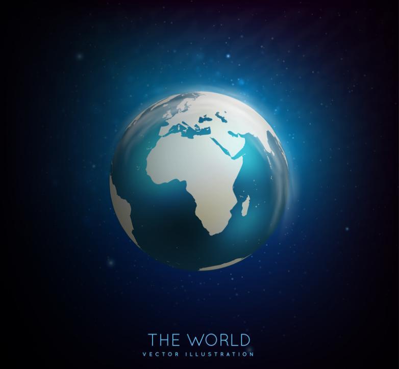 Dream Blue Earth Vector