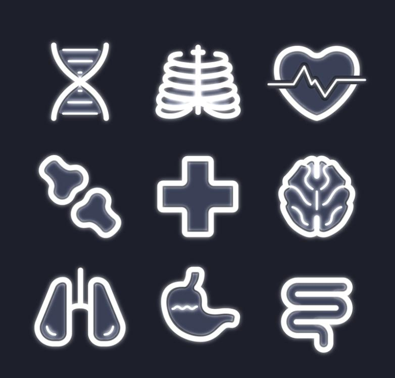 Nine New Creative Medical Icon Vector