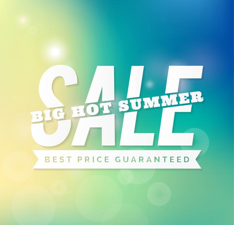 Summer Promotion Poster Art Words Vector